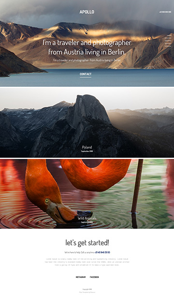 Moon responsive muse templates for photographers and designers apollo 3 muse template for photographers pronofoot35fo Images