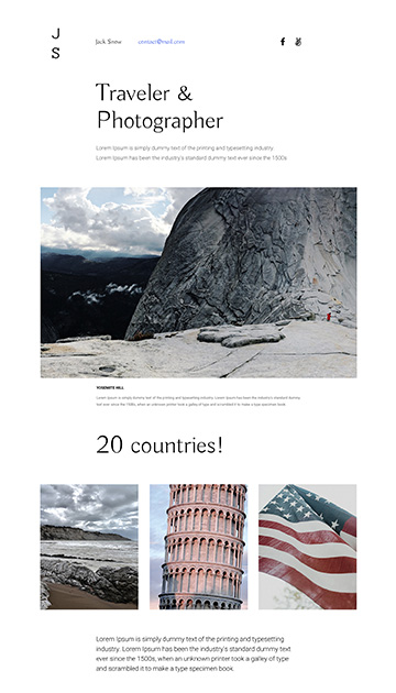 Moon responsive muse templates for photographers and designers apollo 8 muse template for photographers pronofoot35fo Images