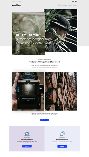 Simple - Responsive Muse CC templates for photographers and