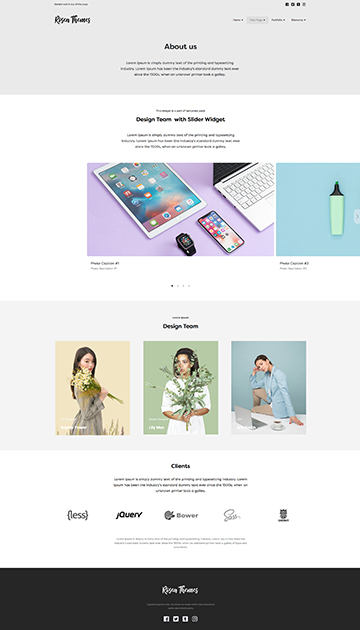 Simple Responsive Muse Cc Templates For Photographers And Designers